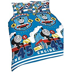"Thomas and Friends Repeat Print Design ""Patch"" 2 Piece UK Single/US Twin Sheet Set 1 x Double Sided Sheet and 1 x Pillowcase, Multi Colour"