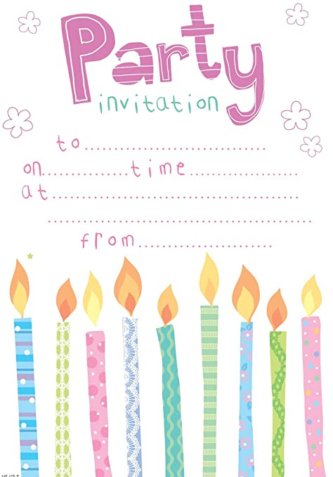 Amazon.com: Fiesta de cumpleaños Invitaciones (Rosa/niña ...