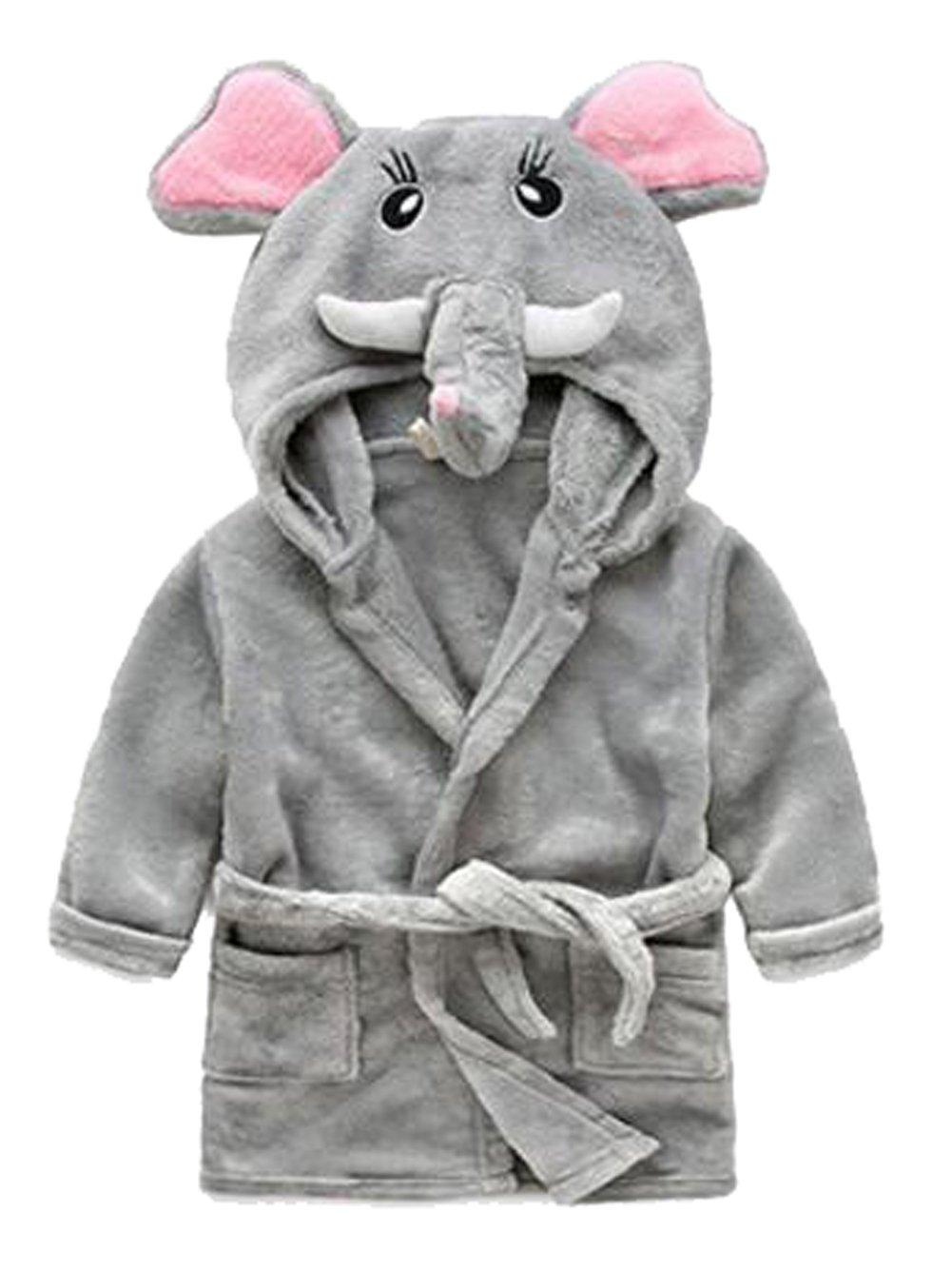 25350181c Galleon - Toddler Kids Cartoon Hooded Plush Robe Animal Pajamas ...
