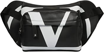 Valentino Mens Ry0b0764xcu0ni Black Leather Travel Bag