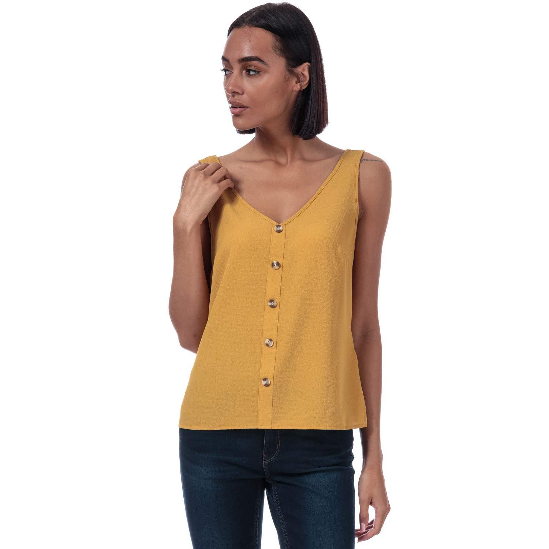 Color /ámbar y Dorado Camiseta de Tirantes para Mujer Vero Moda Sasha