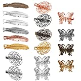 Jaciya 18 Pack Vintage Hair Clip Hairpins Hair Barrettes Butterfly Leaf Flower Shape Hair Clips Headwear for Lady Girl, 18 Pieces