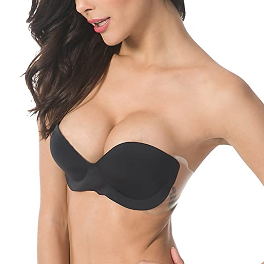 c20b5f8bb1 Miss BOBO Strapless Seamless Backless inflatable stealth self-adhesive  invisible bra