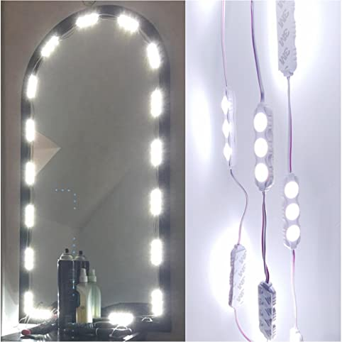 vanity mirror diy. 60 leds 9.8 ft make-up vanity mirror light diy kits for cosmetic makeup diy
