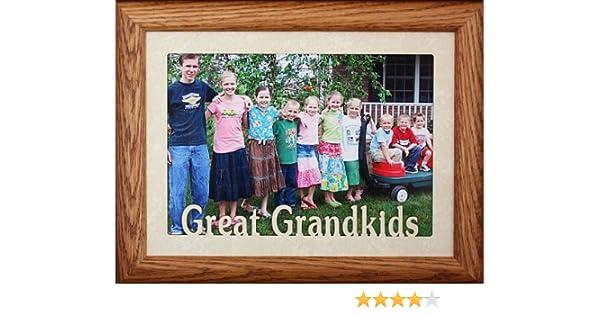 Amazoncom 5x7 Jumbo Great Grandkids Landscape Picture Frame