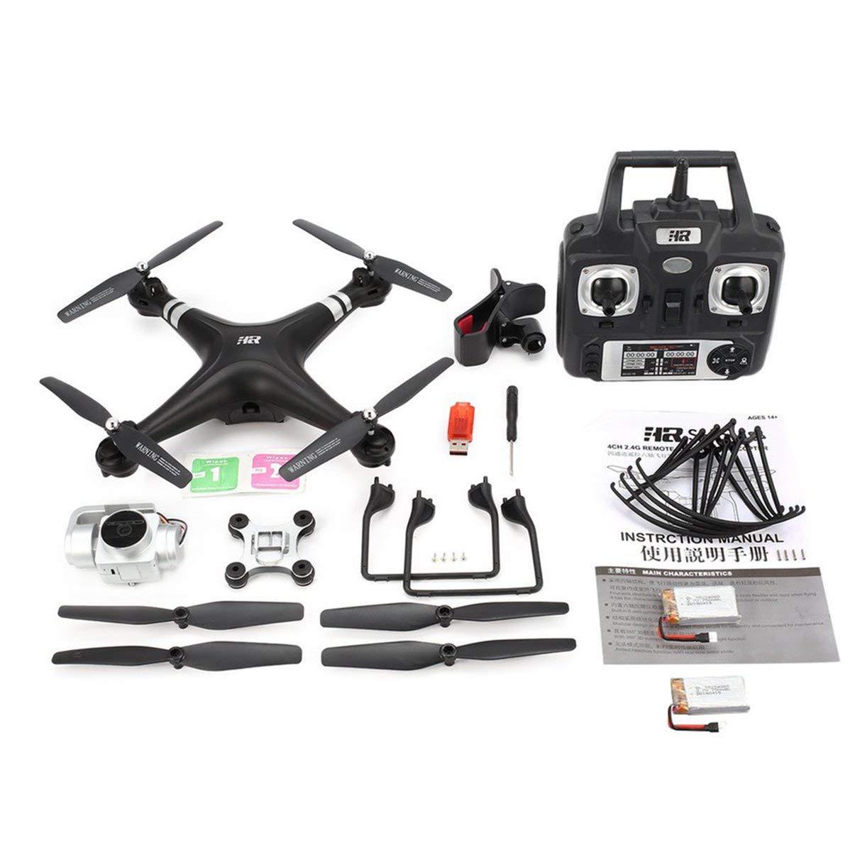 JullyeleDEgant SH5HD FPV Drohne RC Quadcopter mit 1080P verstellbarem Weitwinkel WiFi HD Kamera Live Video Höhenstand Halten Sie 2 Batterien