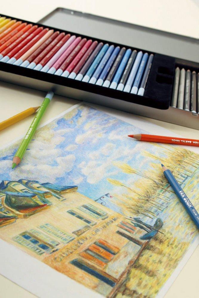 VAN GOGH Pencil 60 colored pencil Metal Case by Van Gogh (Image #8)