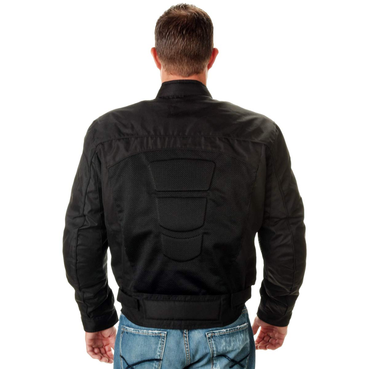 Xelement CF380 Devious Mens Black Mesh Jacket with X-Armor CE Protection - 2X-Large