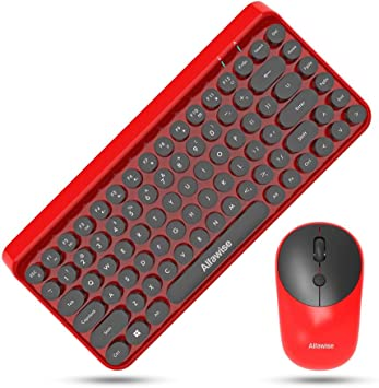DINGDA Teclado 2-en-1 Retro Moda China Red-Key Cap 84-Key ...