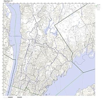 Amazoncom White Plains NY ZIP Code Map Laminated Home Kitchen
