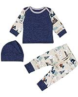 Ec Newborn Baby Boys Girls Print T shirt Tops Pants Hat 3PCS Outfits Clothes