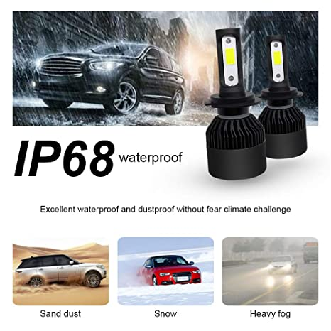 SIGHTLING H7 36W 3600LM LED COB Kit de Conversión de Bombillas de los Faros Delanteros Cohces Lámpara luz 6000K IP68 - 2 años de garantía: Amazon.es: Coche ...