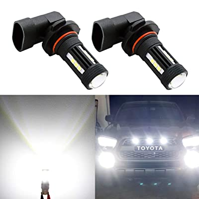 Morefulls H10 LED Fog Light Bulbs,3000 LM Extremely Super Bright LED Bulbs 9140 9145 LED Lights for Cars Trucks, Non-Polarity 12V LED Fog Lamps with IP67 Waterproof,360° Beam Angle,6000K Xenon White: Automotive