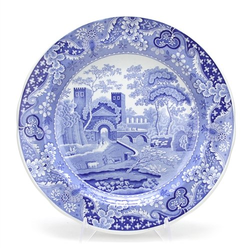 Collection Dinner Room Blue Plate (Blue Room Collection by Spode, Stoneware Dinner Plate, Castle)