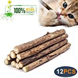 WoLover Natural Silvervine Sticks for Cats, Catnip Sticks Matatabi Chew Sticks Teeth Molar Chew Toys for Cat Kitten Kitty