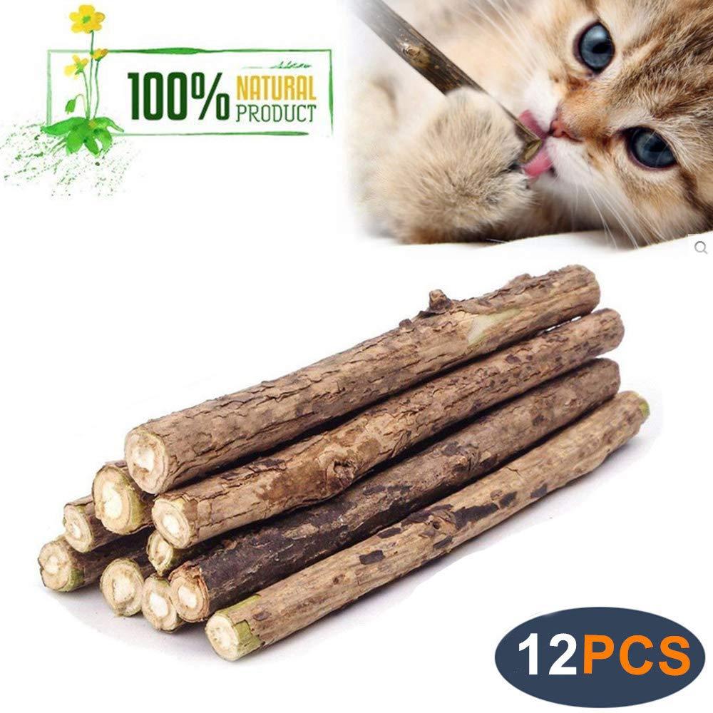 Catnip Sticks Matatabi Chew Sticks Teeth Molar Chew Toys for Cat Kitten Kitty WoLover Natural Silvervine Sticks for Cats