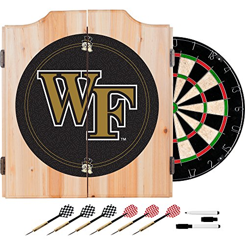 NCAA Wake Forest University Wood Dart Cabinet Set