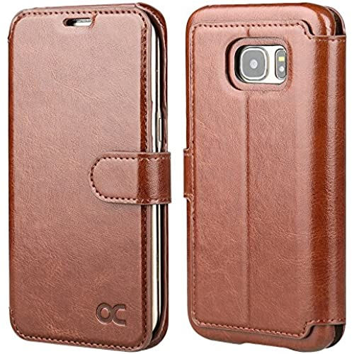 OCASE Galaxy S7 Edge Case Leather Wallet Case [Slim Fit] - For SAMSUNG Galaxy S7 Edge Devices - Brown Sales