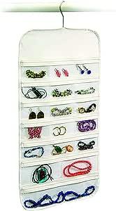Richards Homewares ORG/Clear Vinyl Hanger Hanging Jewelry Organizer 37 Pockets Bedroom Closet Color: White