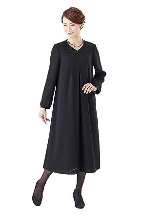 6c2727b04ccd1 (セルニーナ) Cellnina 喪服 レディース 礼服 大きいサイズ 前開き 授乳 レース衿 ブラックフォーマル