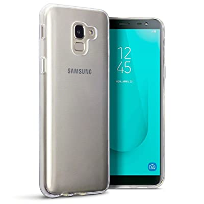 TERRAPIN Funda Samsung Galaxy J6 2018 (J600G) Protectiva de Silicona Gel TPU estrecha - Claro