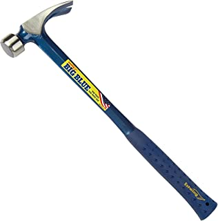 product image for Estwing BIG BLUE Framing Hammer - 25 oz Straight Rip Claw with Forged Steel Construction & Shock Reduction Grip - E3-25SM