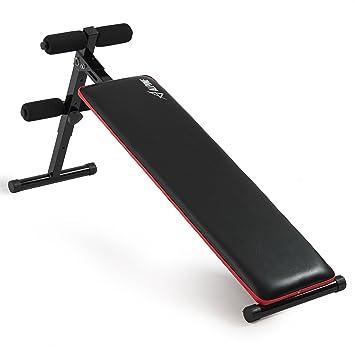 Akonza Adjustable Decline Sit Up Bench Crunch Fitness Indoor Gym Exercise  Incline Bench  Black