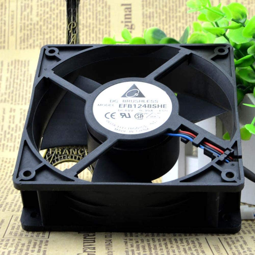 for Delta EFB 1248SHE-F00 48V0.30A12038 12cm Speed Measuring and Cooling Fan