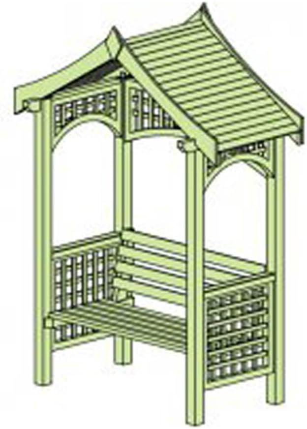 craovog – Cenador de jardín de madera Arbour con playa, dos asientos (Reino Unido stock): Amazon.es: Jardín