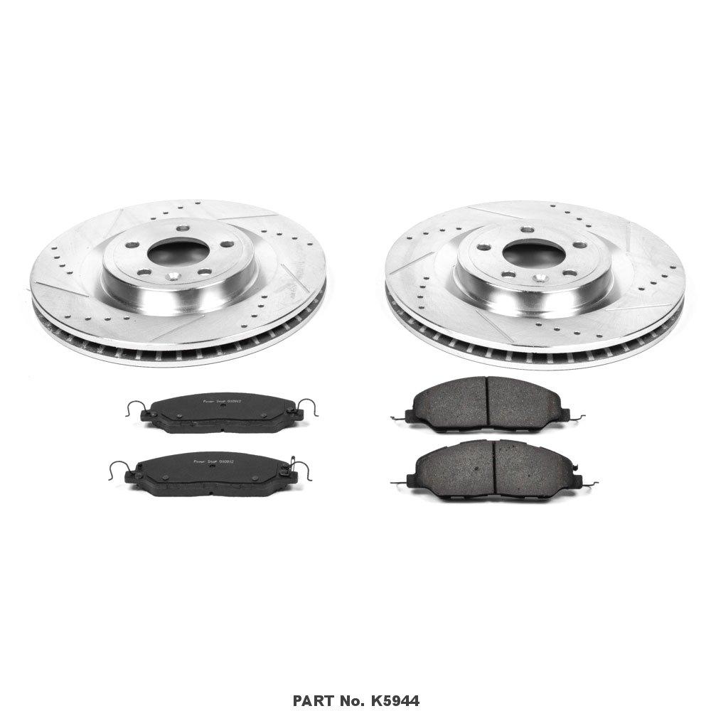 Power Stop K5944 Front Brake Kit with Drilled//Slotted Brake Rotors and Z23 Evolution Ceramic Brake Pads