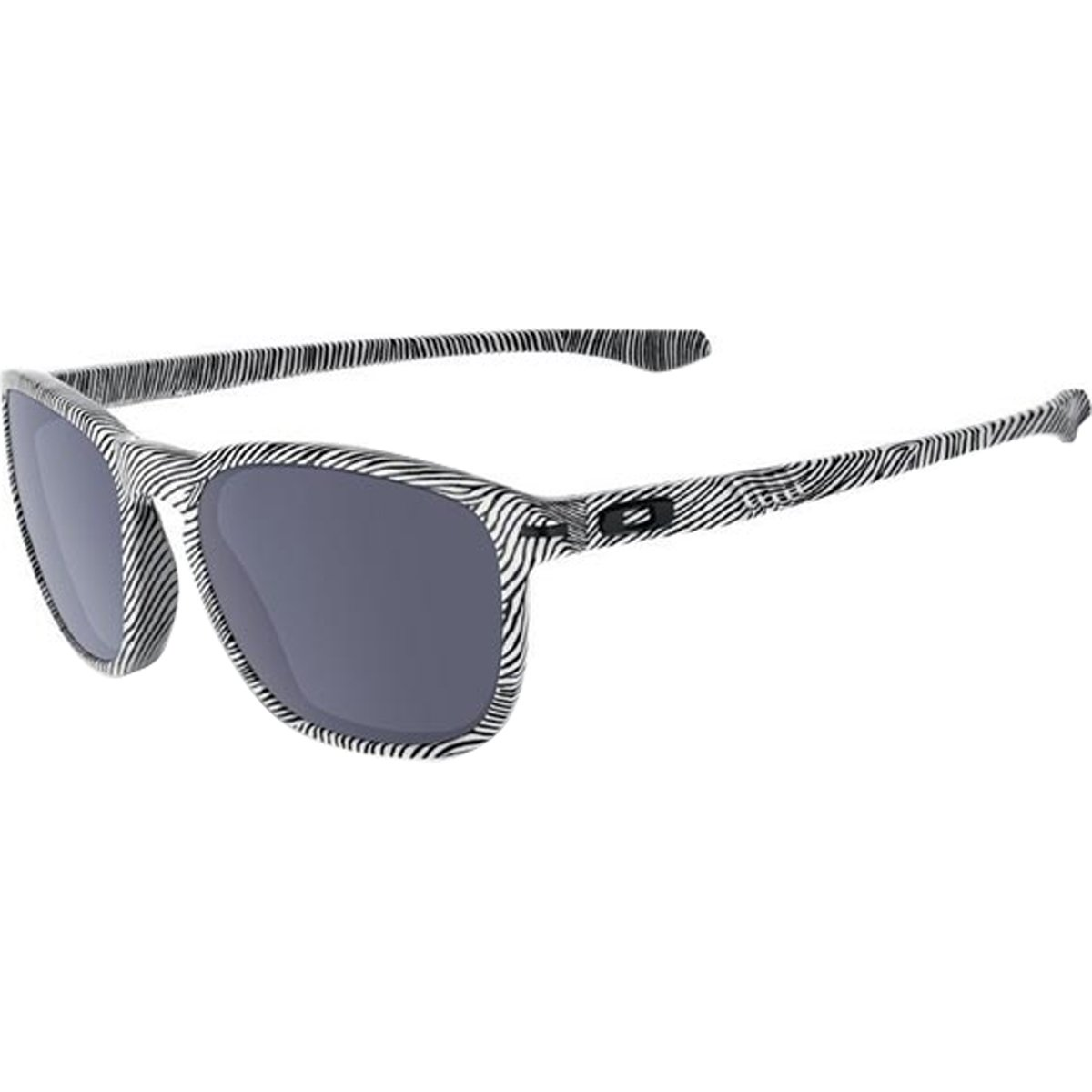 Oakley Men's OO9223 Enduro Oval Sunglasses, Fingerprint White/Grey, 55 mm by Oakley