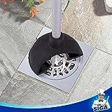 MR. SIGA 2 Way Rubber Toilet Plunger, Aluminium