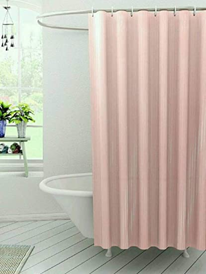 CASA FURNISHING PVC Plastic Shower Curtain With 8 Hooks 54x78 Inches 45x7 Feet