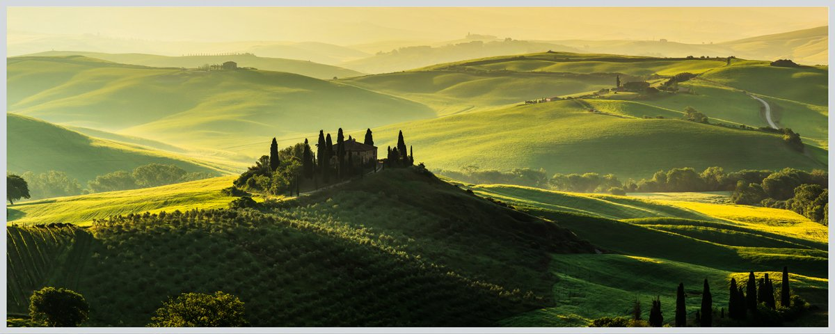 Eurographics LA-KRB1003 Green Tuscany 50x50 Light Art, Acryl, Bunt, 50,00 x 50,00 x 5,00 cm