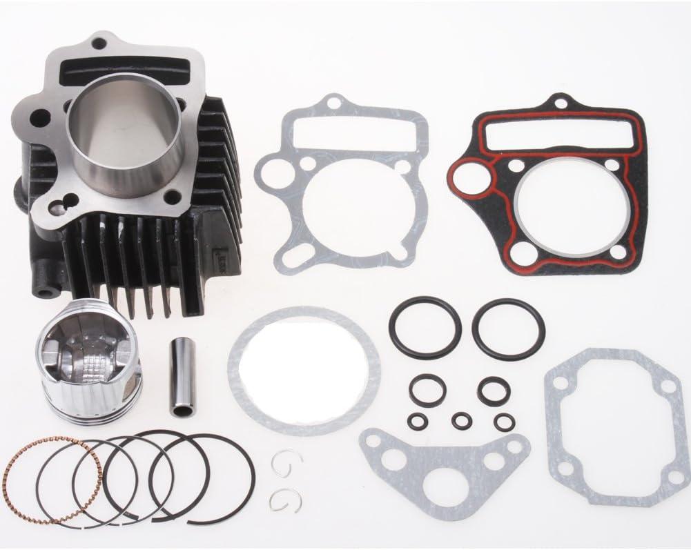 MC^MP 39mm Cylinder Body with Head Gaskets Piston Rings Kit Set for 50cc ATV Quad Dirt Pit Bike Go Kart