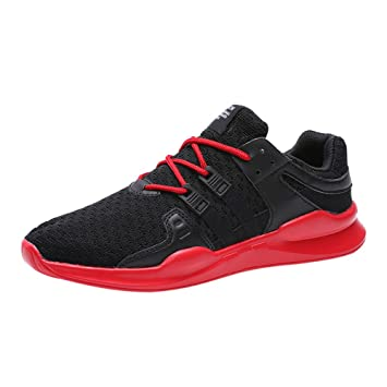 LuckyGirls Zapatillas de Hombre Cordón Elástico Calzado Running Zapatos de Correr Bambas Deportivas: Amazon.es: Deportes y aire libre