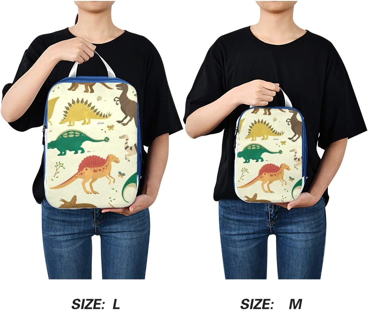 d Dinosaur Vintage Color 3 Set Packing Cubes,2 Various Sizes Travel Luggage Packing Organizers