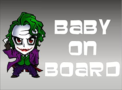 8991884be3d8 Amazon.com  Joker Baby on Board   Vehicle Decals   Batman   DC ...