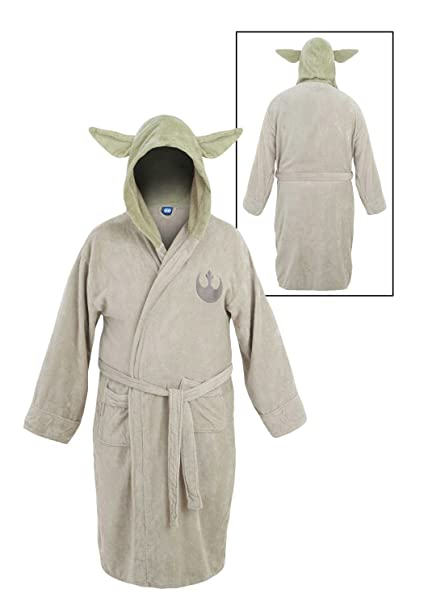 Star Wars Yoda Albornoz de Baño Bata de Hombre Unitalla: Amazon.es ...