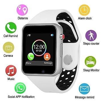 Smart Uhr Männer Frauen Sport Armband Q18 Bluetooth Touchscreen Große Batterie Smartwatch Unterstützung Tf Sim Karte Kamera Ios Android Verkaufspreis Digitale Uhren