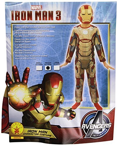 vero affare ma non volgare moda di lusso Rubie's Costume da bambino di Iron Man 3 - Taglia 5-6 anni