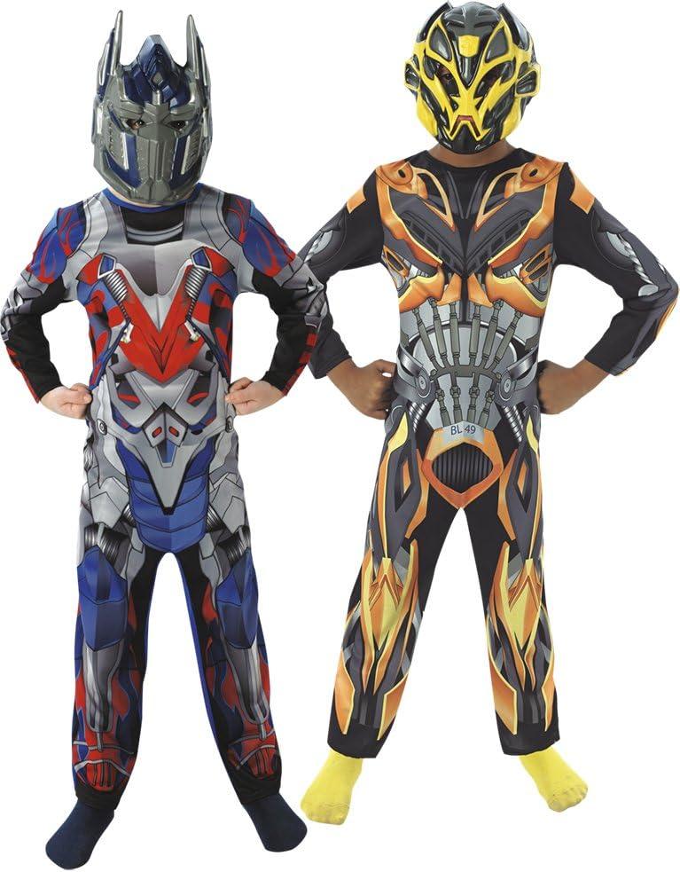 Transformers - Pack de dos disfraces: Optimus Prime + Bumblebee para niños, infantil 3-4 años (Rubie's 881296-S)