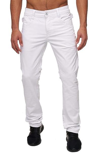 Pantalones vaqueros chinos de mezclilla H1691, Farben:Blanco ...