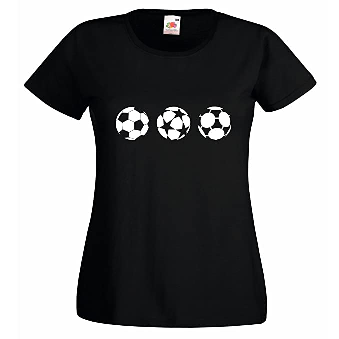 Ladies Champions League Premiership Balones de fútbol camiseta: Amazon.es: Ropa y accesorios