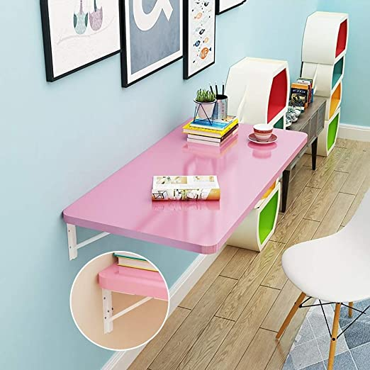 Mesa Plegable de Pared Mesa Plegable Plegable De Pared Rosa, Mesa ...