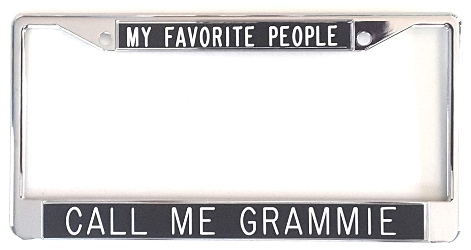 All About Signs 2 Grammie License Plate Frame Chrome