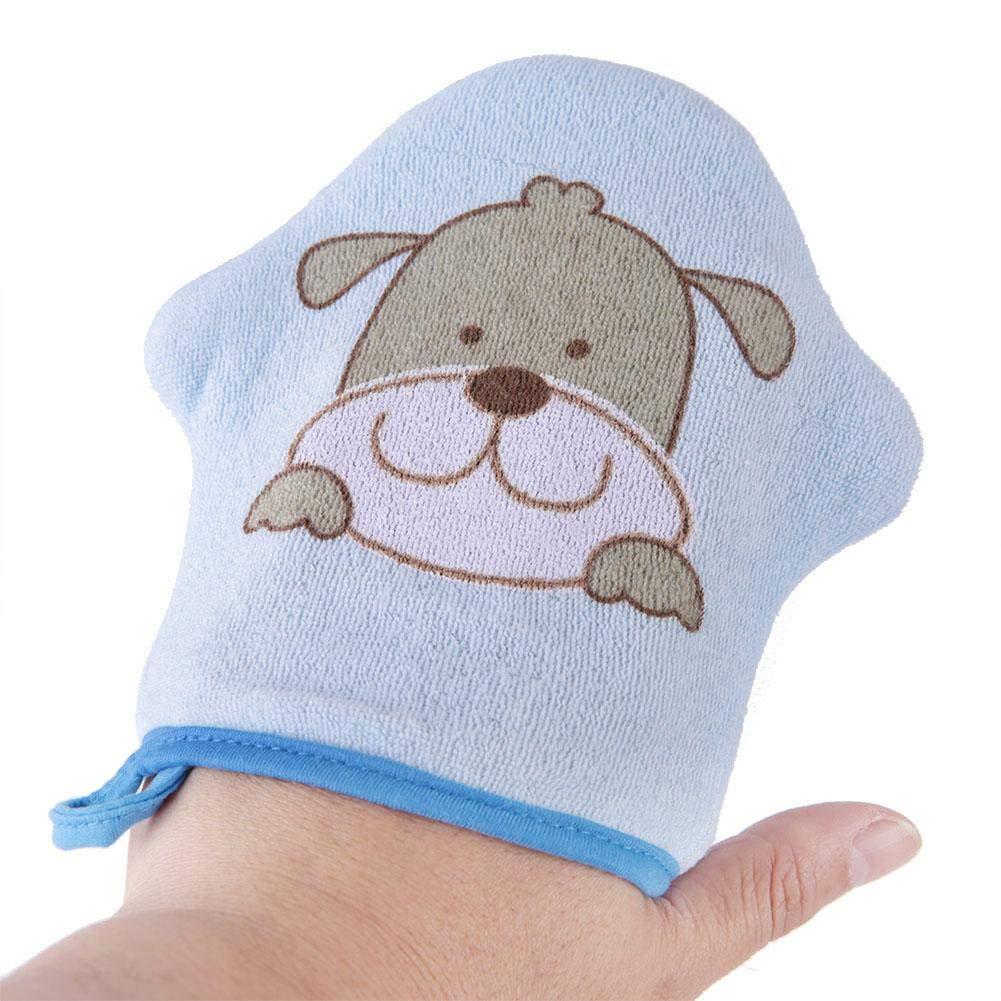 Baby Badeschwamm Cartoon Star Modell Weiche Baumwolle Baby Duschschwamm Kinder Bad Mitt Baumwolle W/äscher Blauer Hund