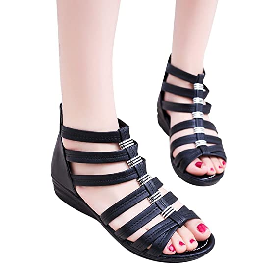 Open Toe Beach Shoes Rome Sandals UK 35