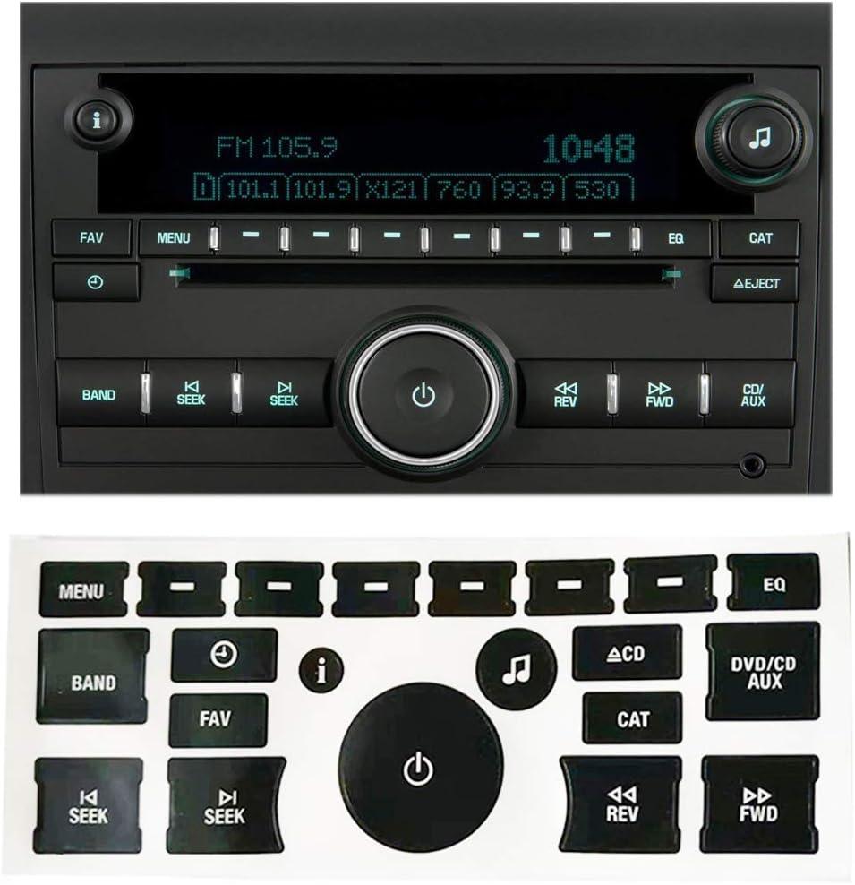 50 Piece GM CHEVROLET Sierra Silverado Tahoe Stereo Radio Button Repair Decals