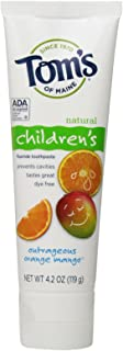 product image for Tom's of Maine, Natural Children's Fluoride Toothpaste, Natural Toothpaste, Kids Toothpaste, Outrageous Orange Mango, 4.2 Ounce, 1-Pack